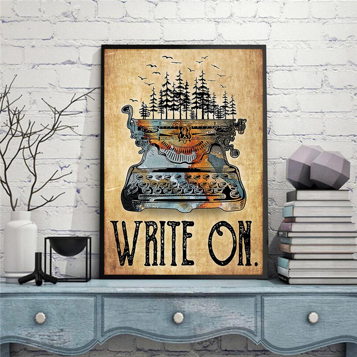 Typewriter write on poster A2