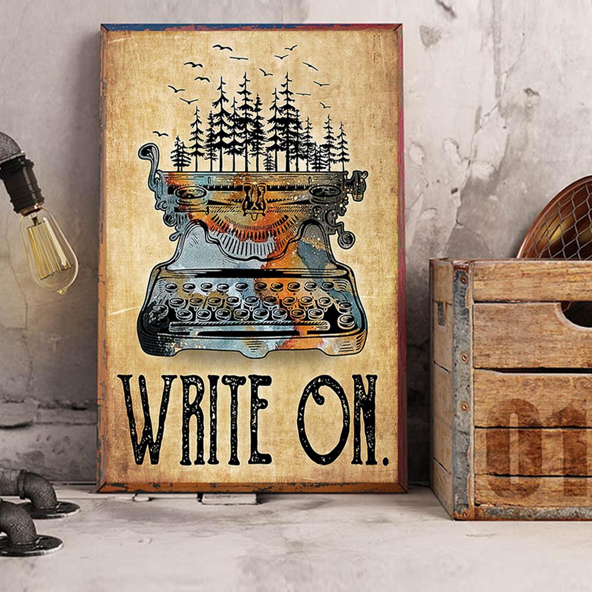 Typewriter write on poster A3