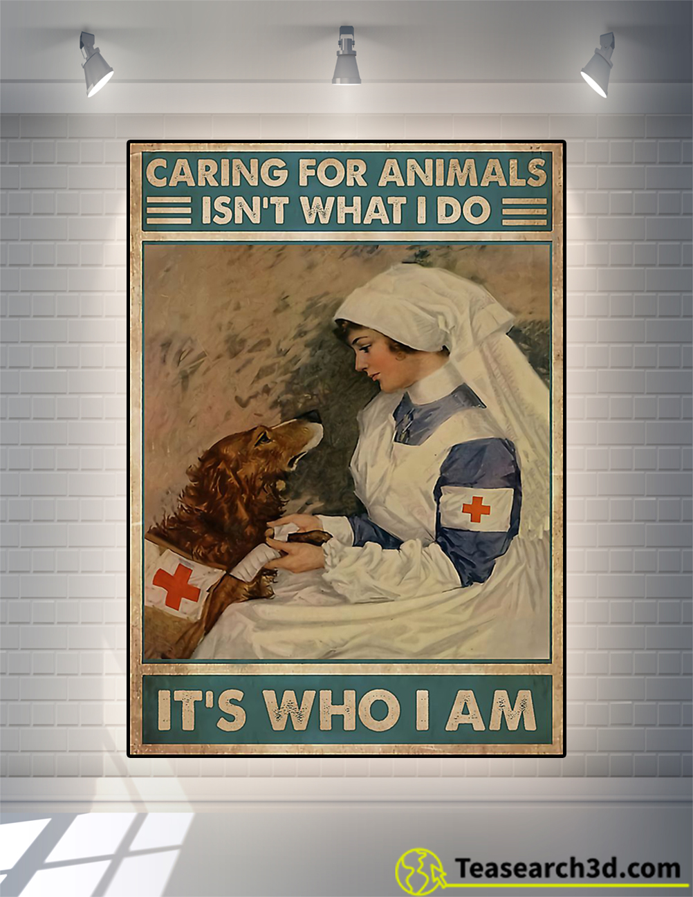 Veterinarian caring for animals isn't what I do It's who I am poster