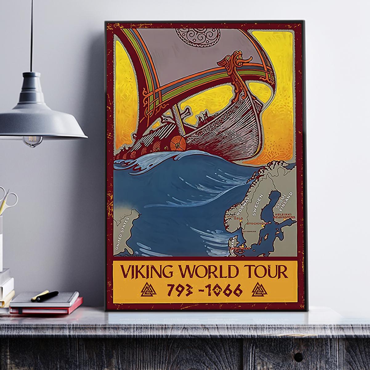 Viking world tour poster A3