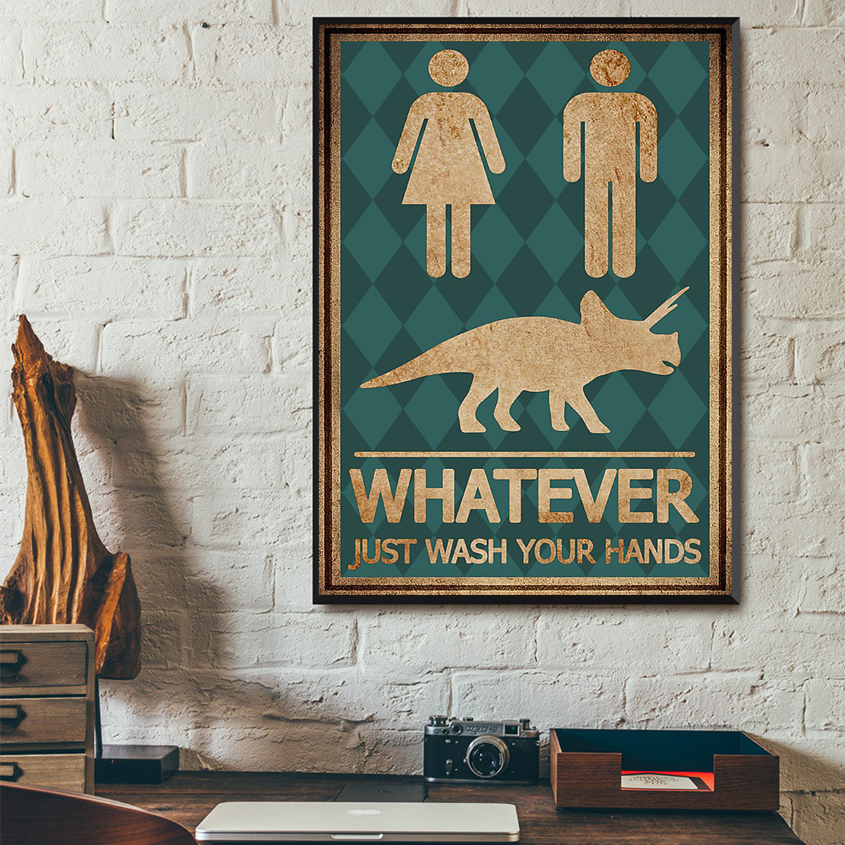 Whatever just wash your hands poster A1