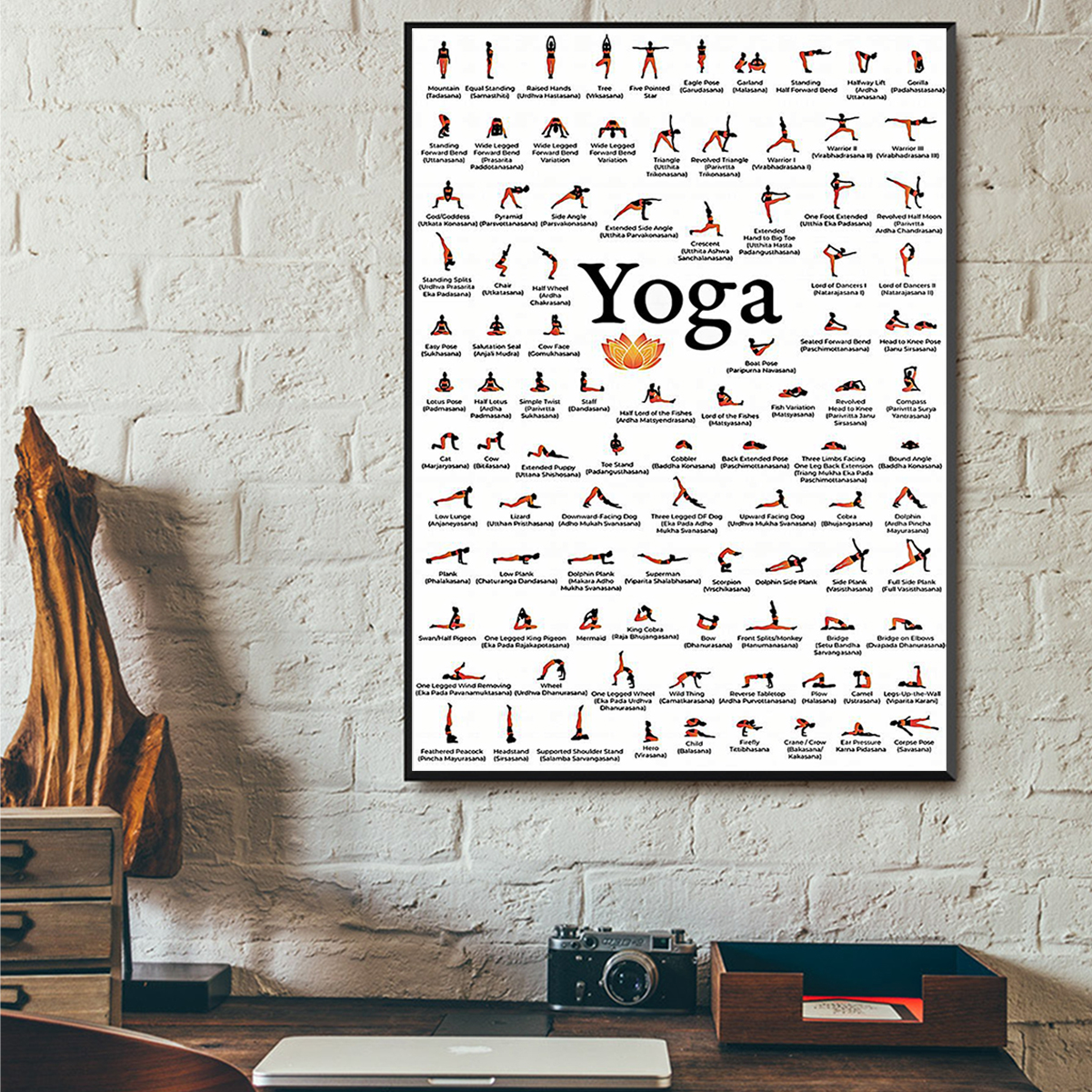 Yoga poses for lovers poster A1