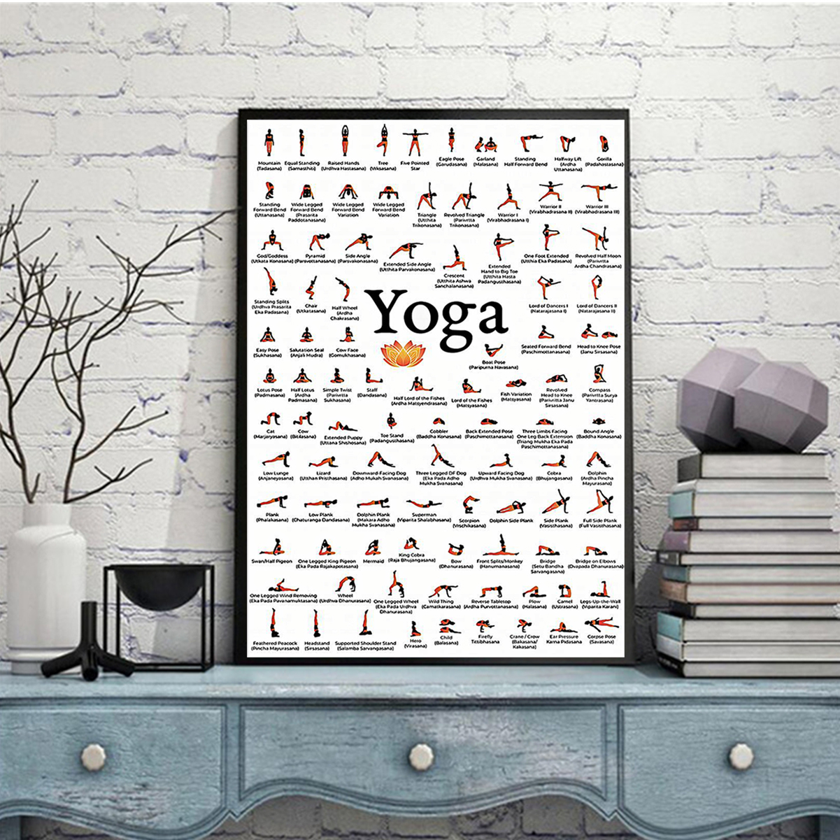 Yoga poses for lovers poster A2