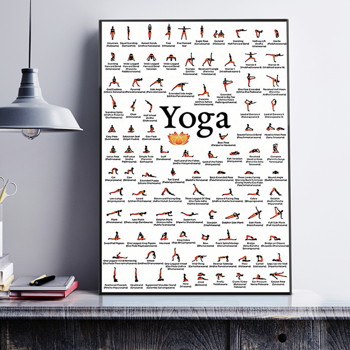 Yoga poses for lovers poster A3