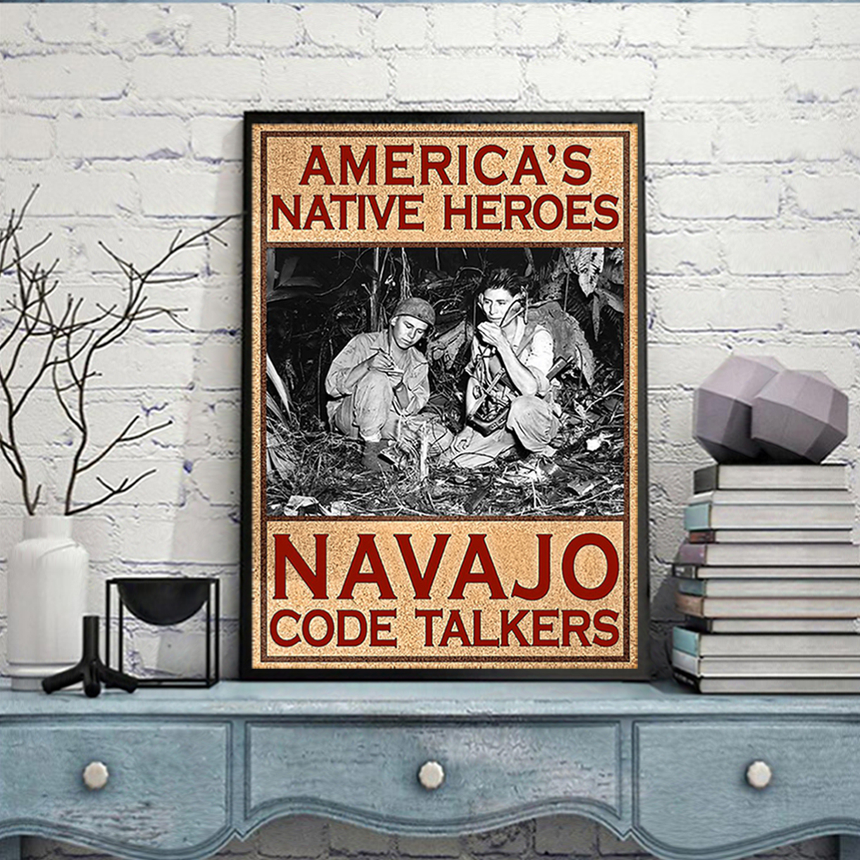 American's native heroes navajo code talkers poster A1