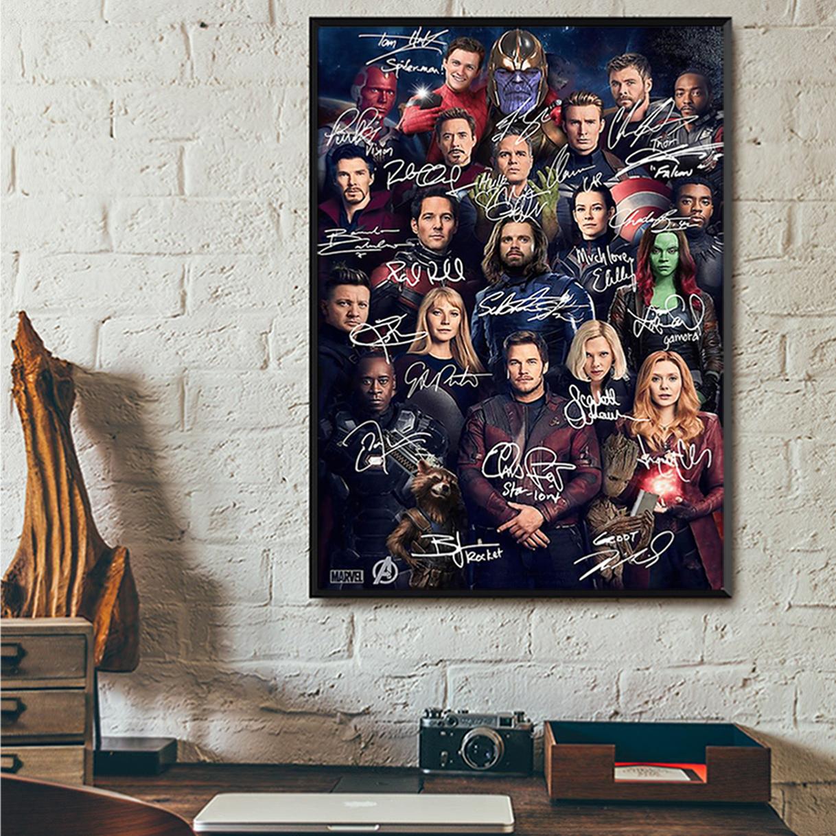 Avengers all actors signature poster A1