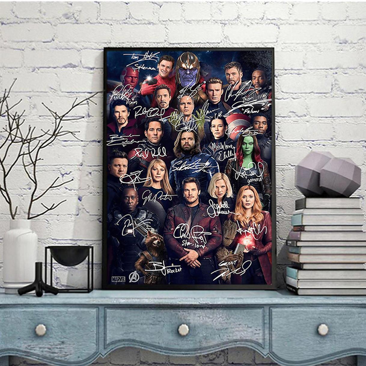 Avengers all actors signature poster A2