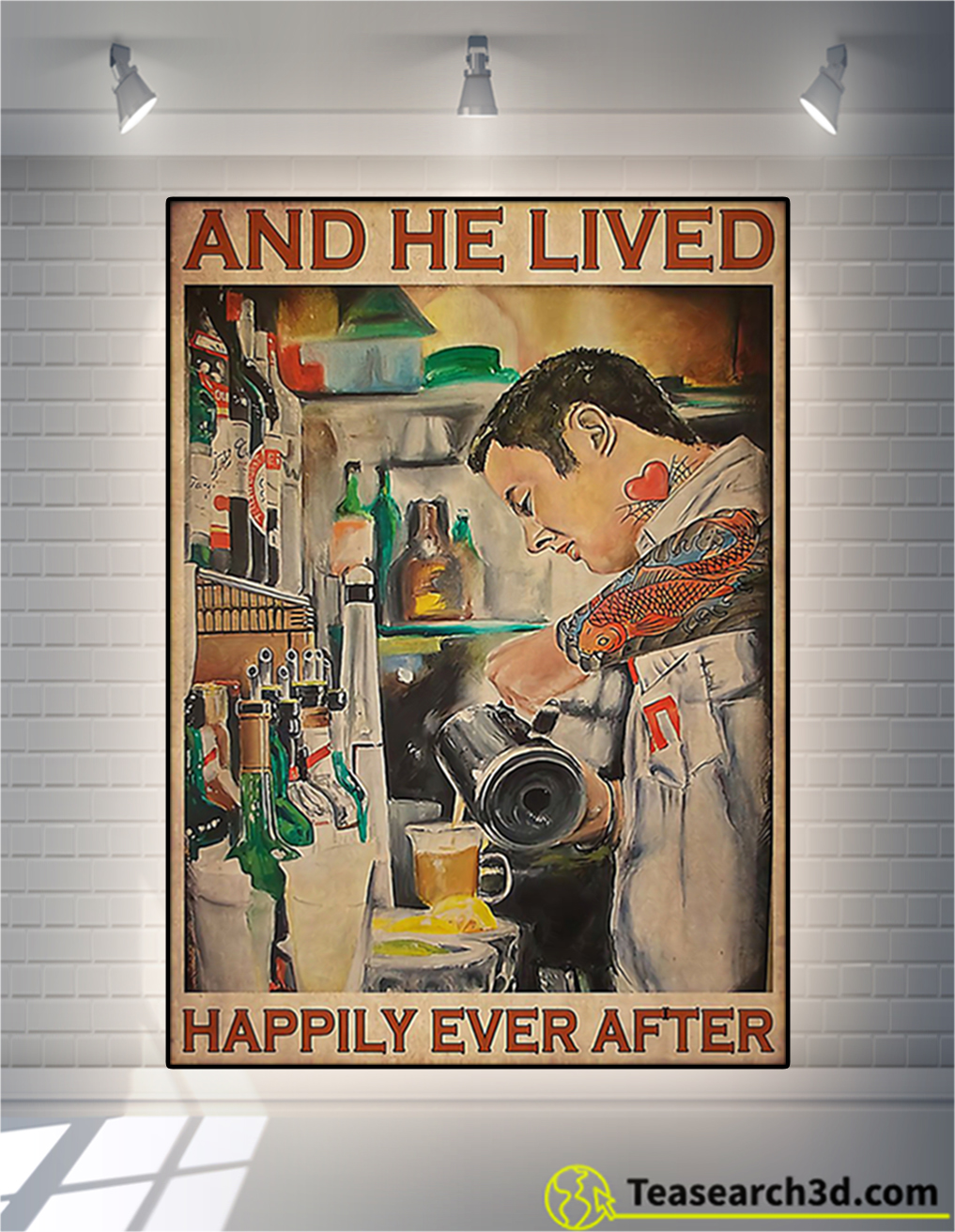 Bartender and he lived happily ever after poster