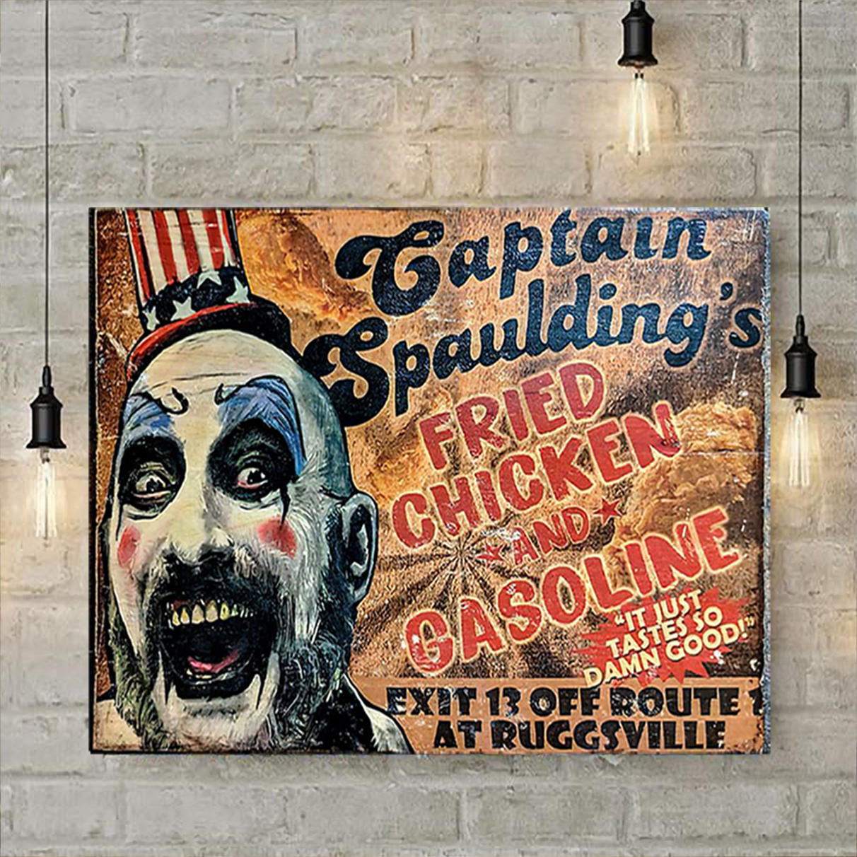 Captain spaulding's fried chicken and gasonline poster A2