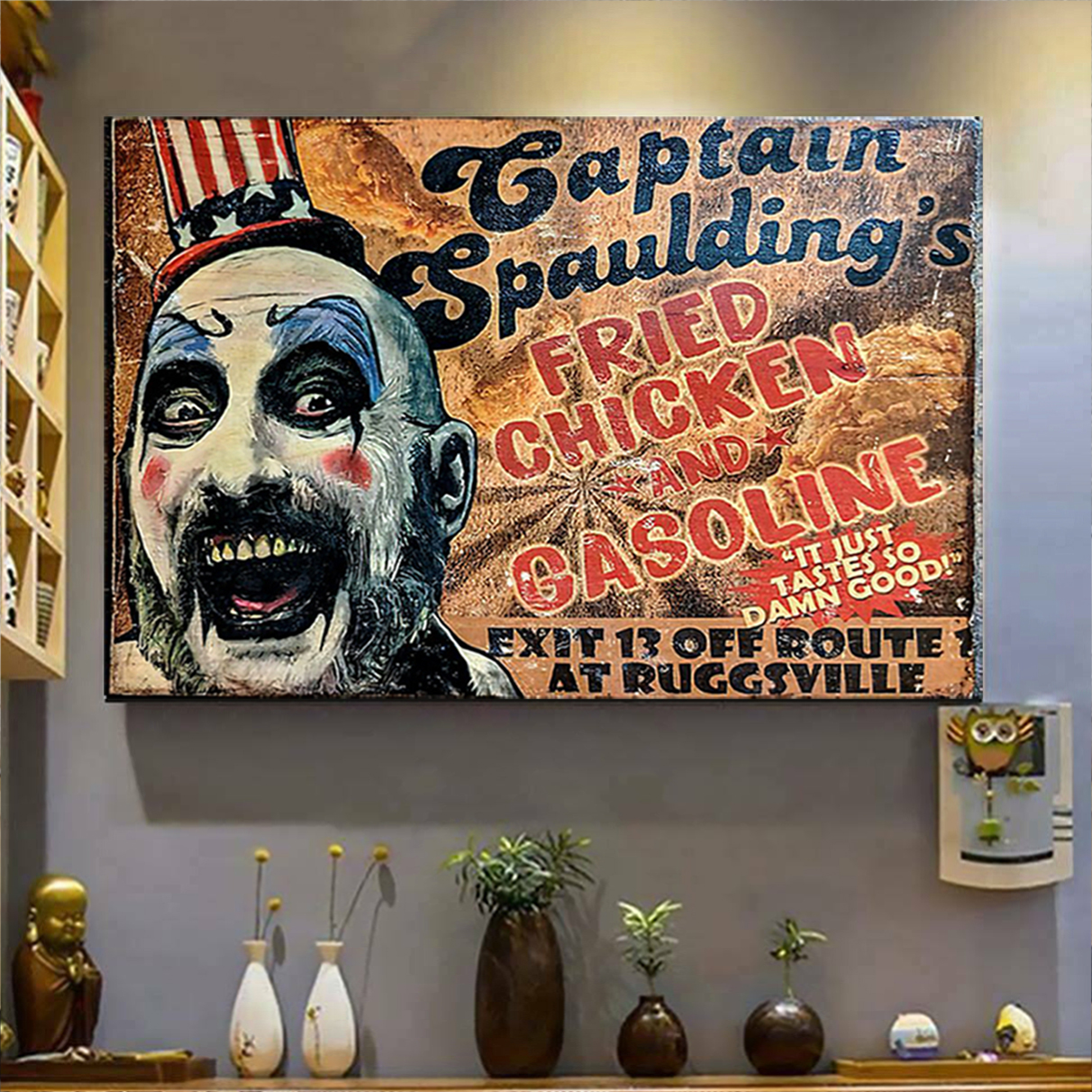 Captain spaulding's fried chicken and gasonline poster A3