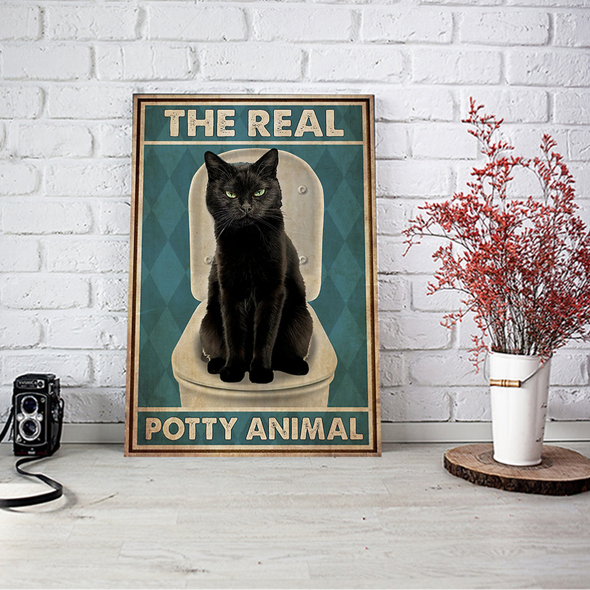 Cat The real potty animal poster A2