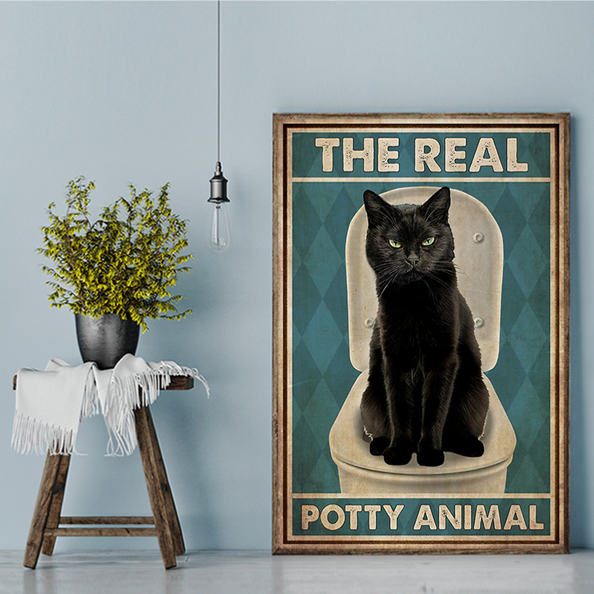 Cat The real potty animal poster A3