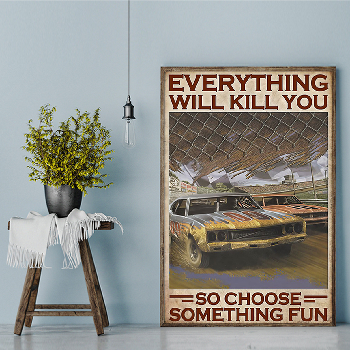 Choose something fun dirt track poster A2