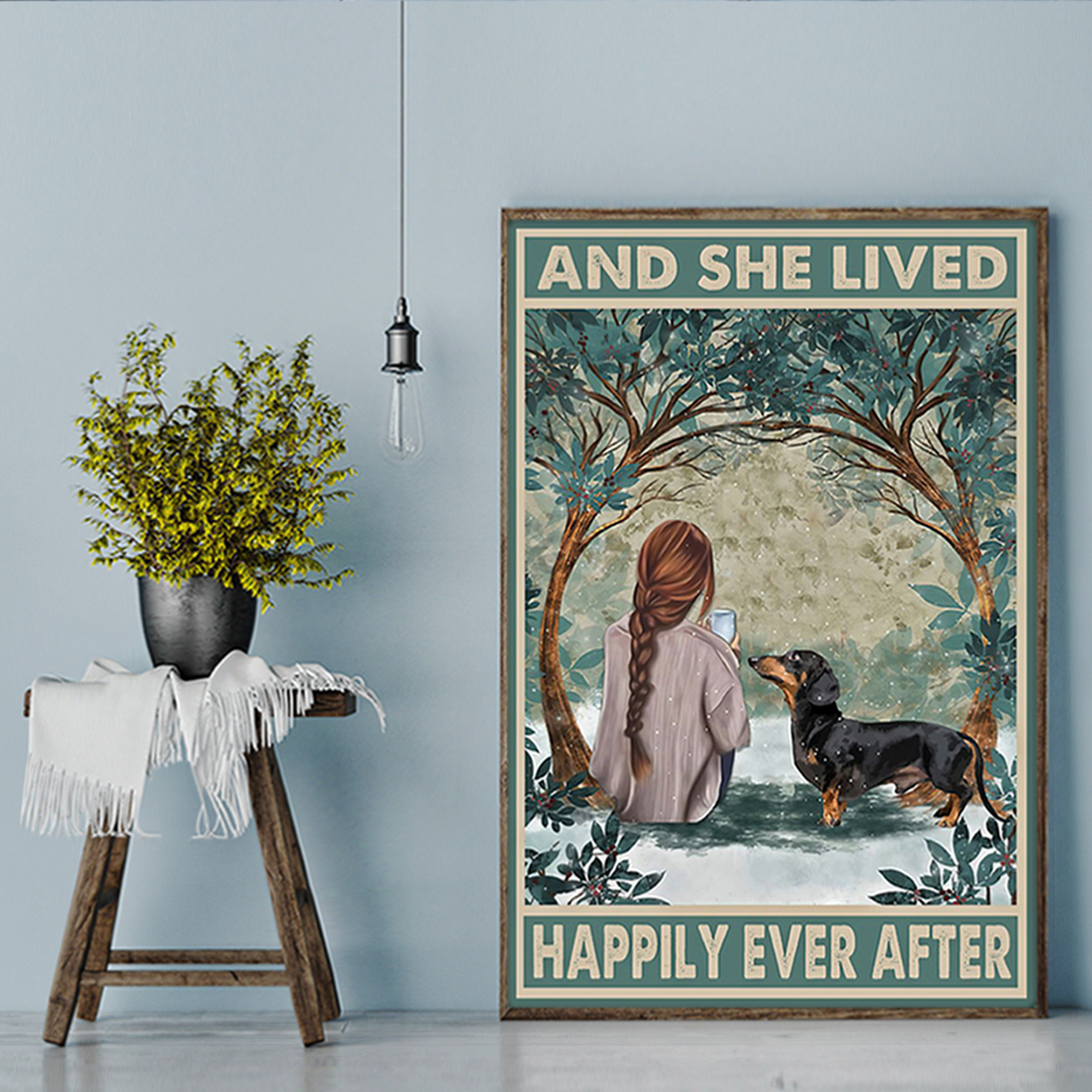 Dachshund And She Lived Happily Ever After Poster A3