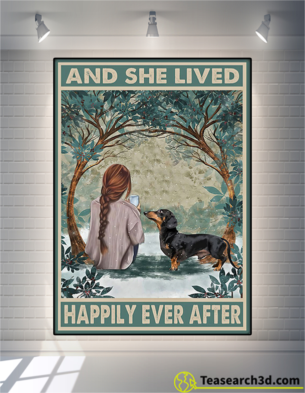 Dachshund And She Lived Happily Ever After Poster