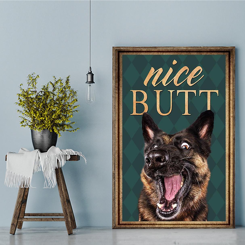 German shepherd nice butt poster A2