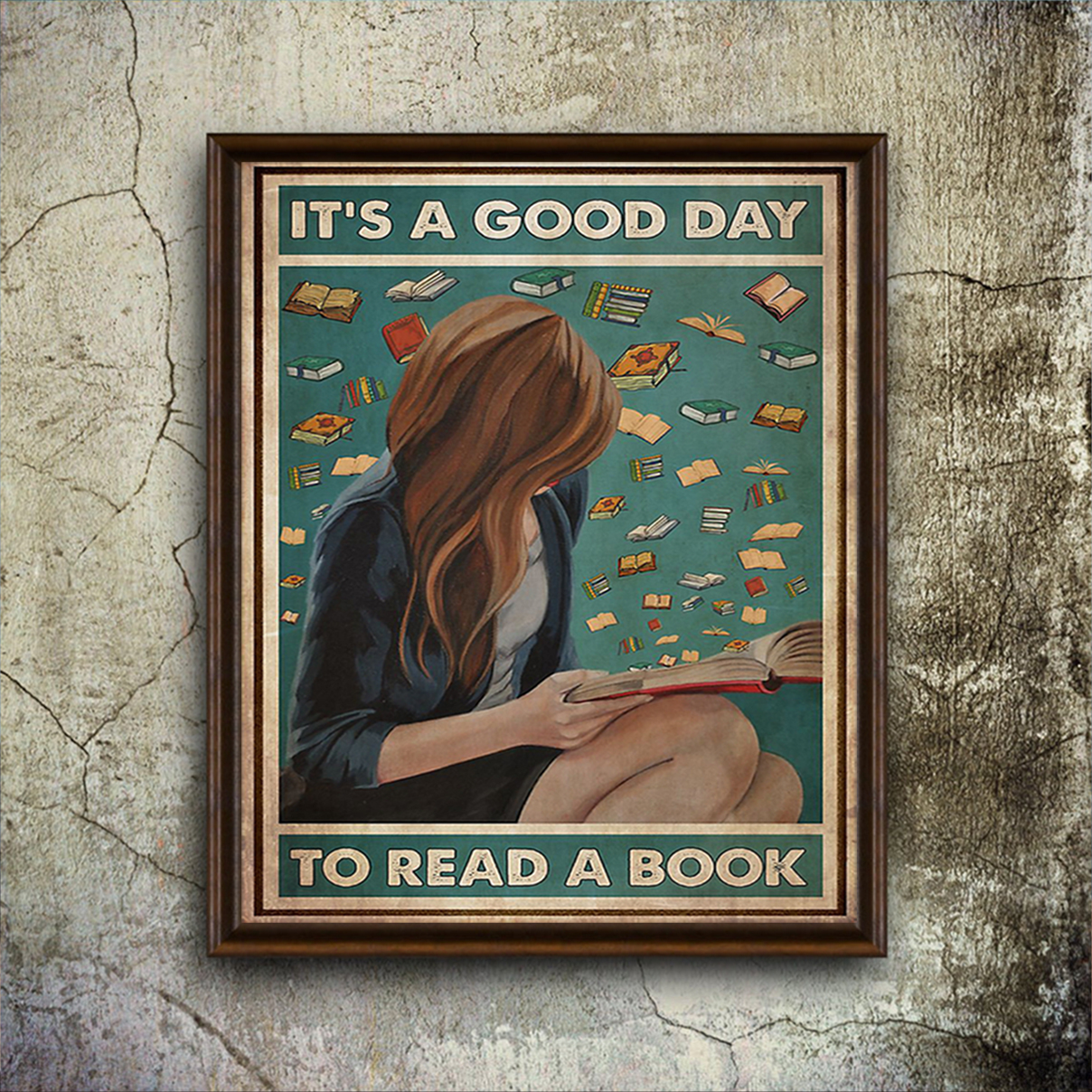 Girl it's a good day to read a book poster A3