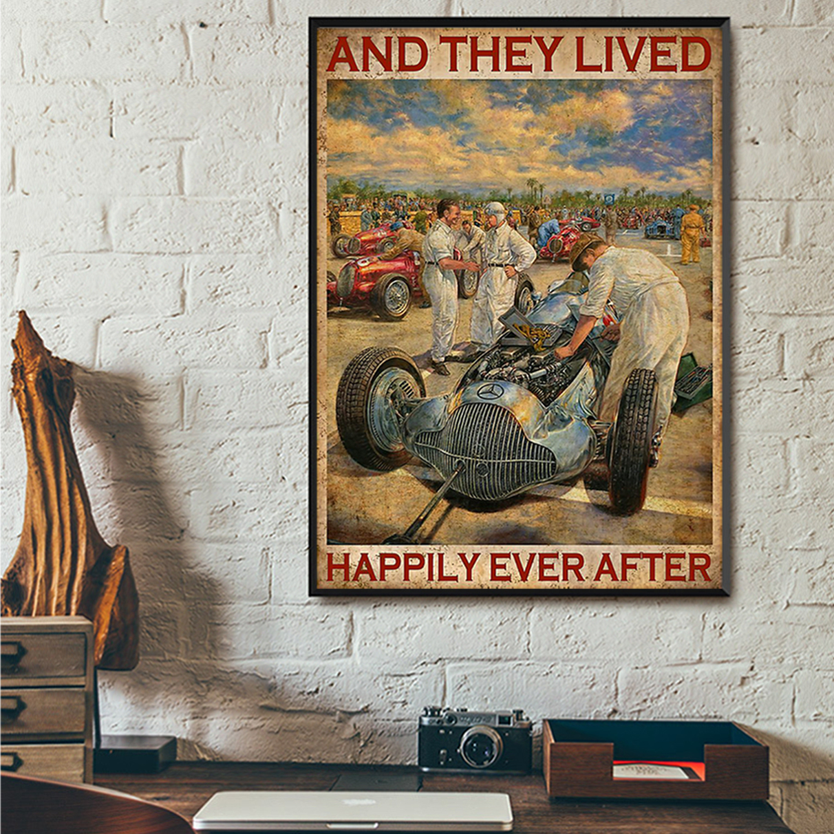 Grand prix motor and they lived happily ever after poster A2