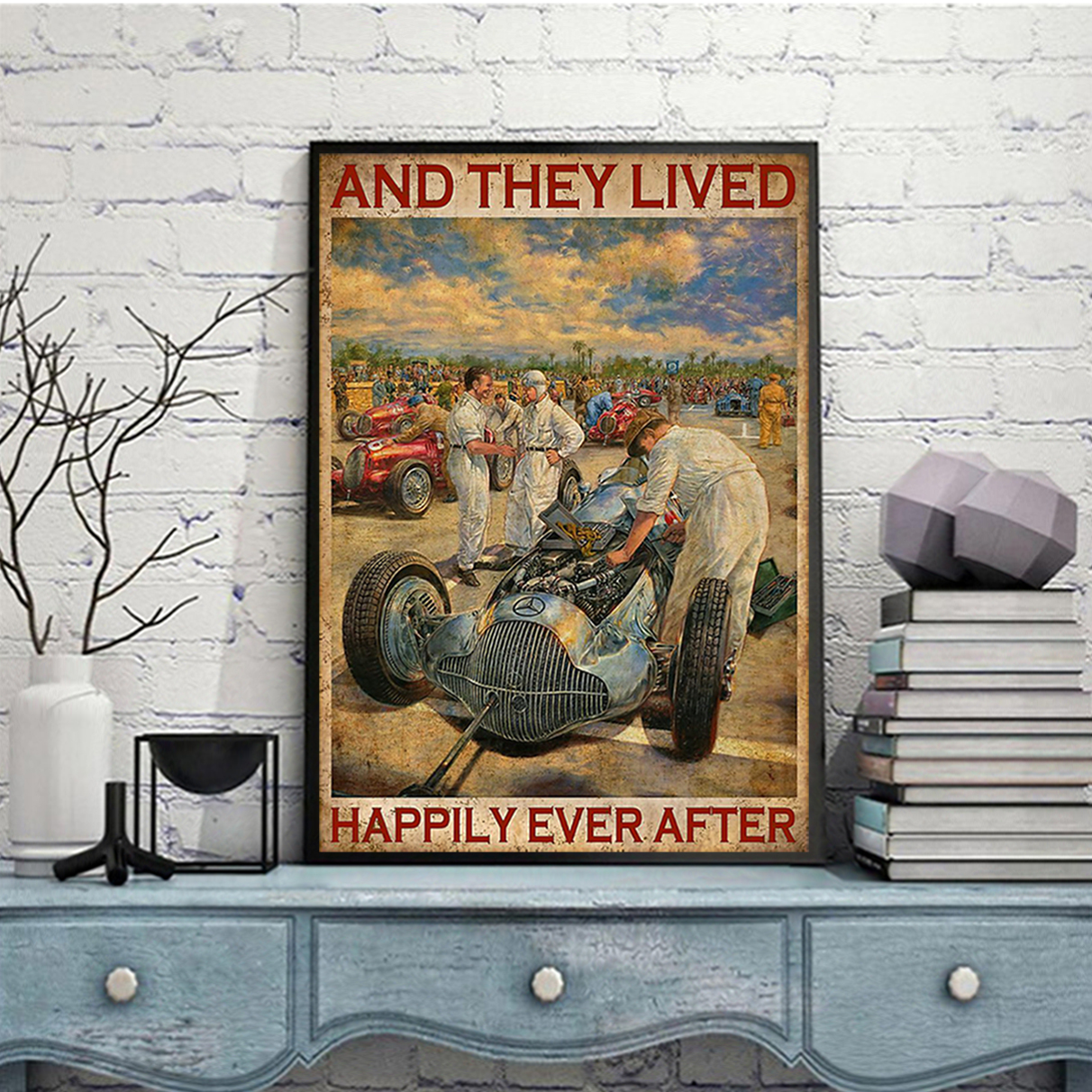Grand prix motor and they lived happily ever after poster A3