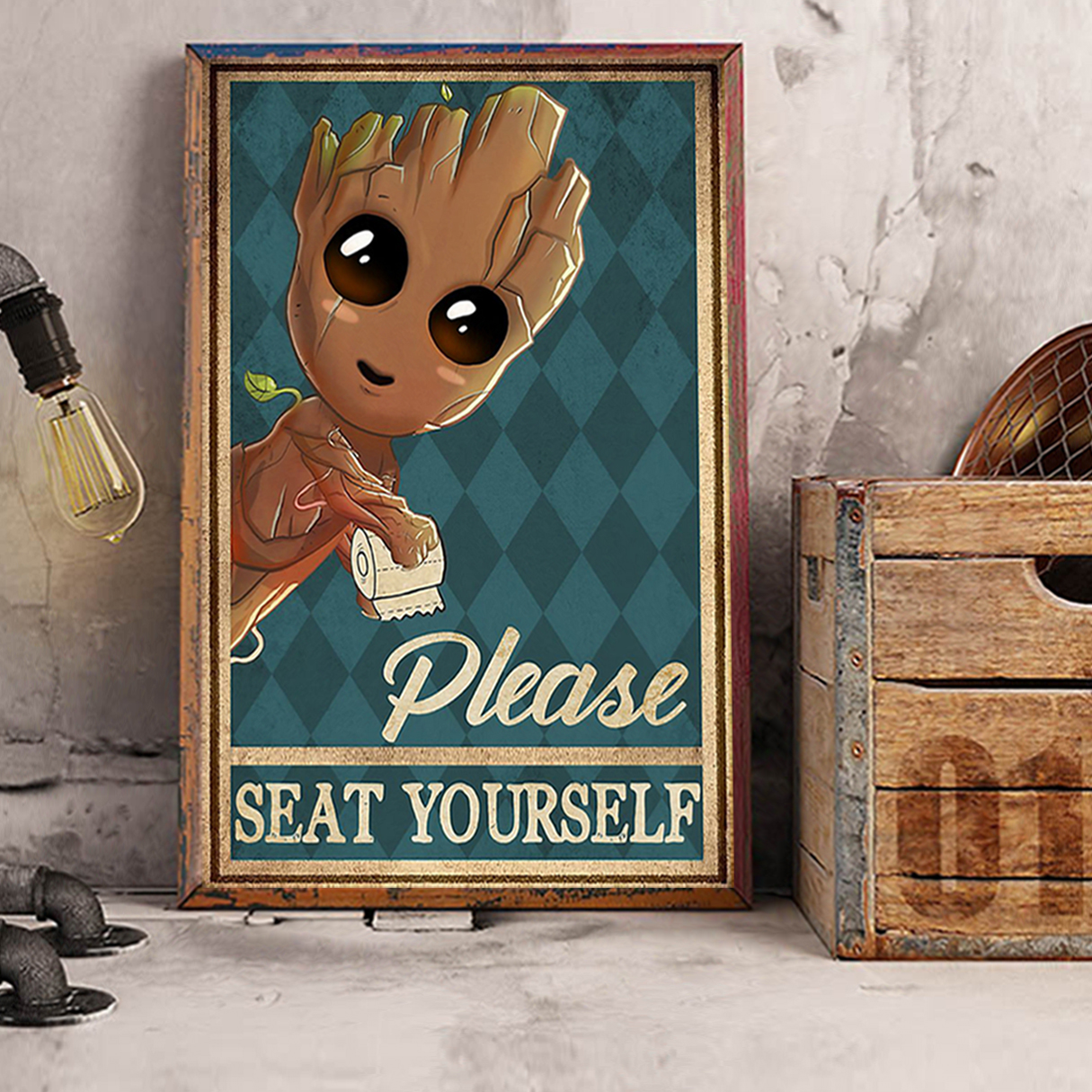 Groot please seat yourself poster A3