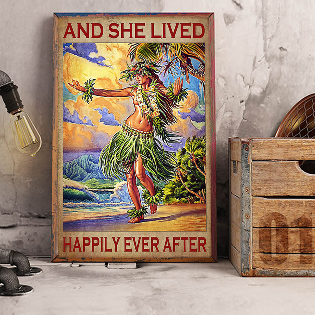 Hawaii girl and she lived happily ever after poster A1