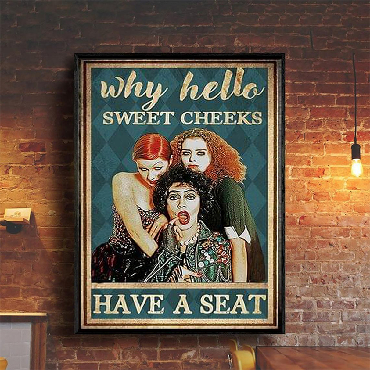 Hocus pocus why hello sweet cheeks have a seat poster A1