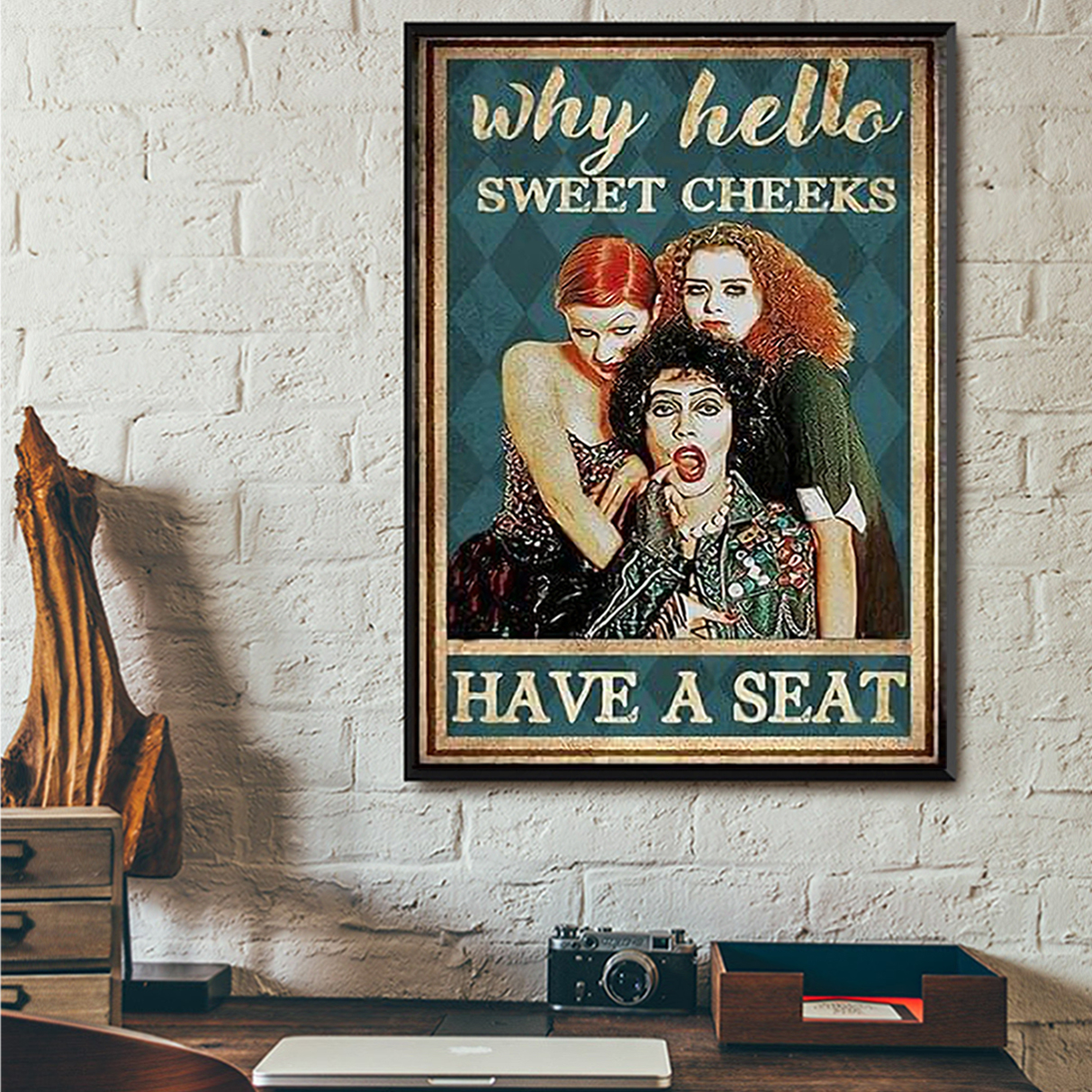 Hocus pocus why hello sweet cheeks have a seat poster A2