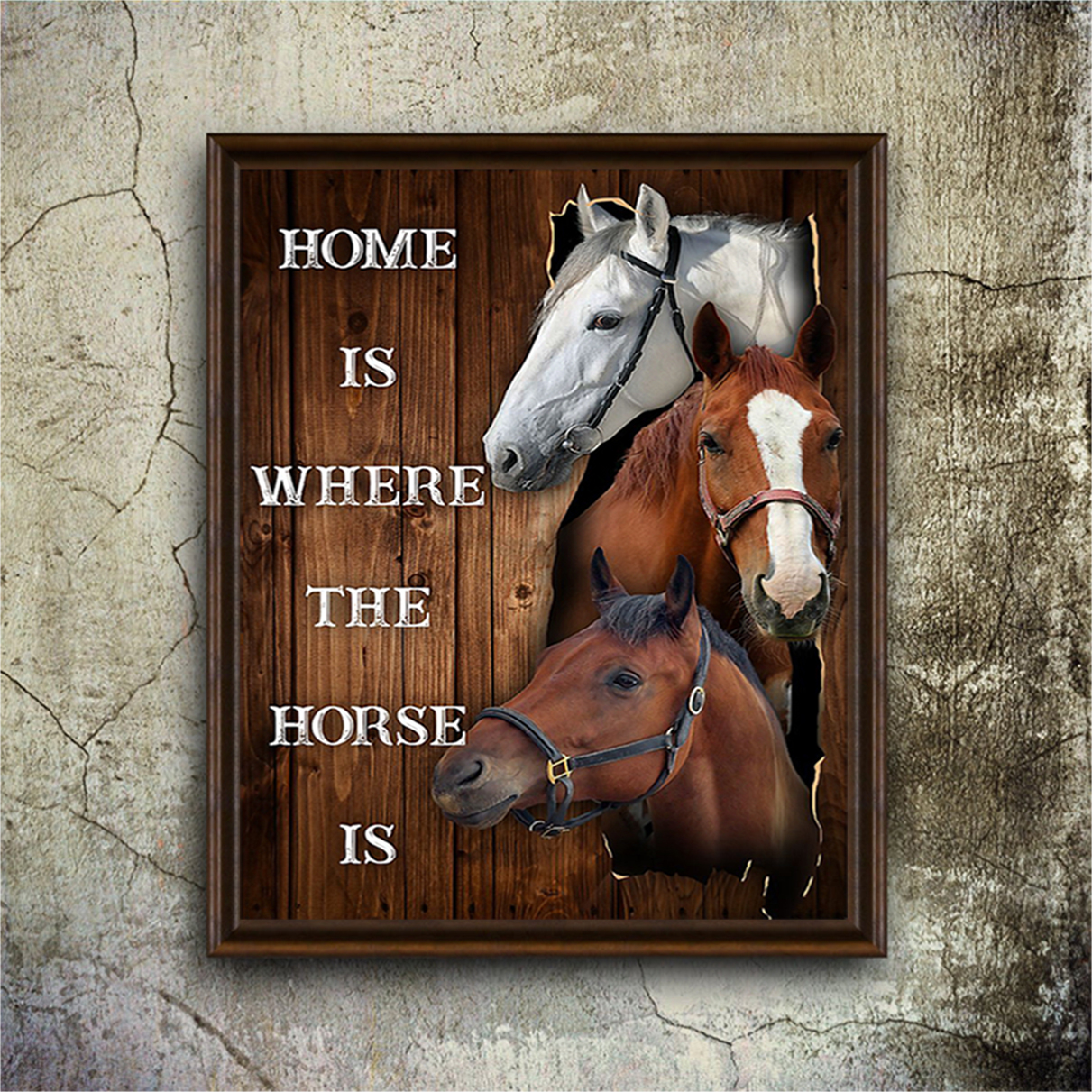 Home is where the horse is poster A2