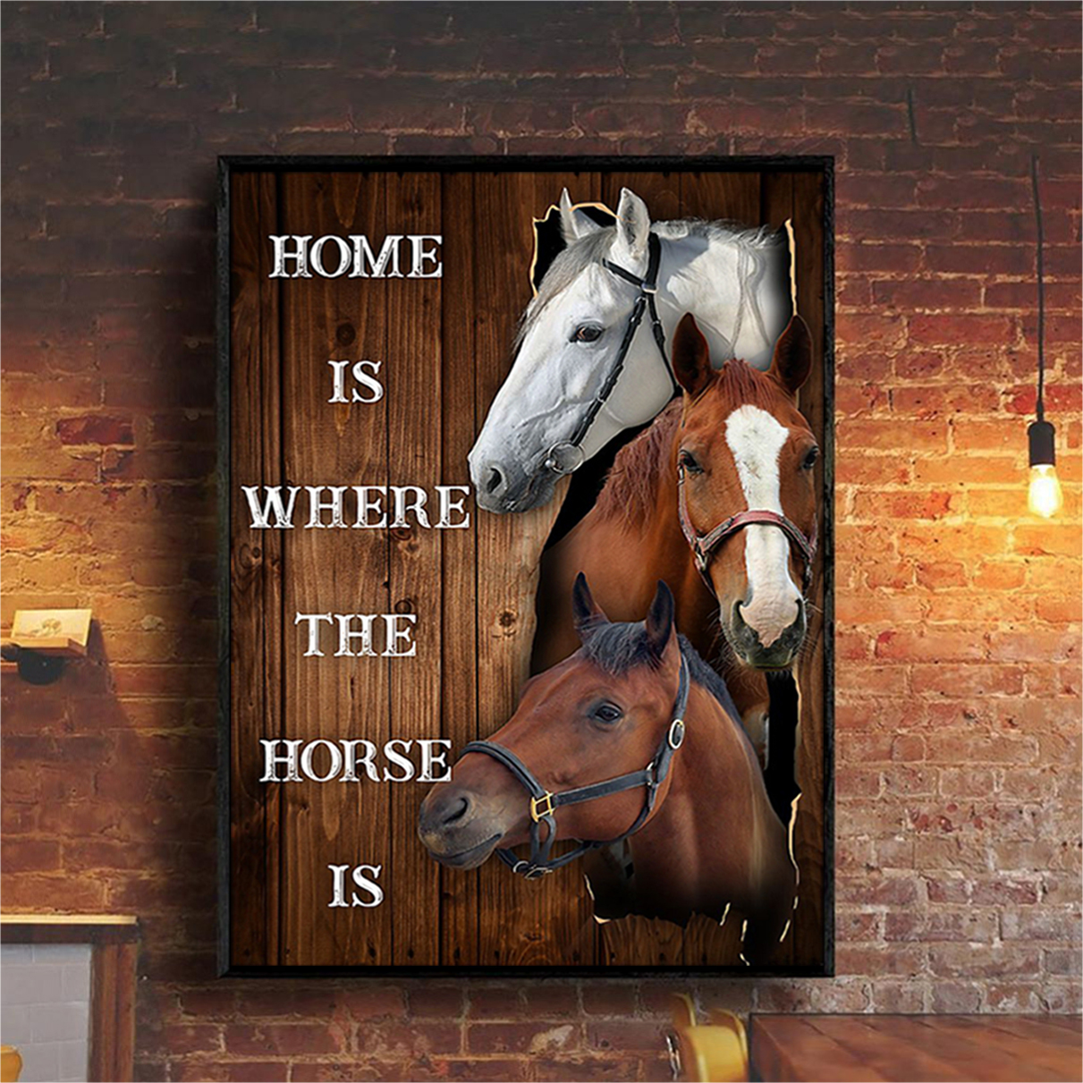 Home is where the horse is poster A3