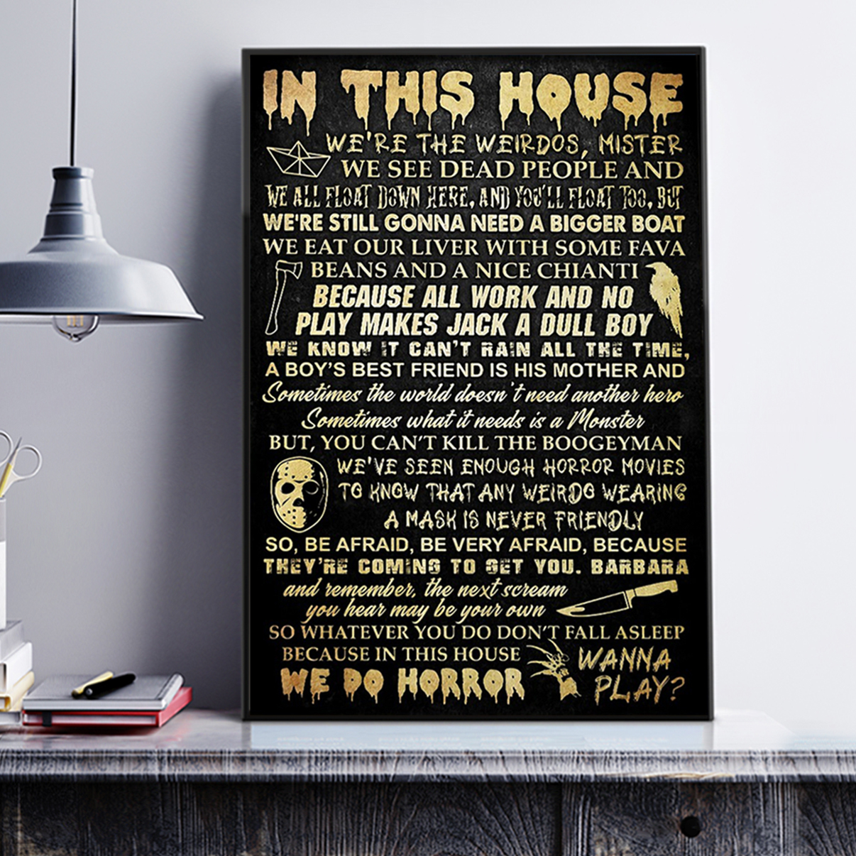 In this house horror movie poster A1
