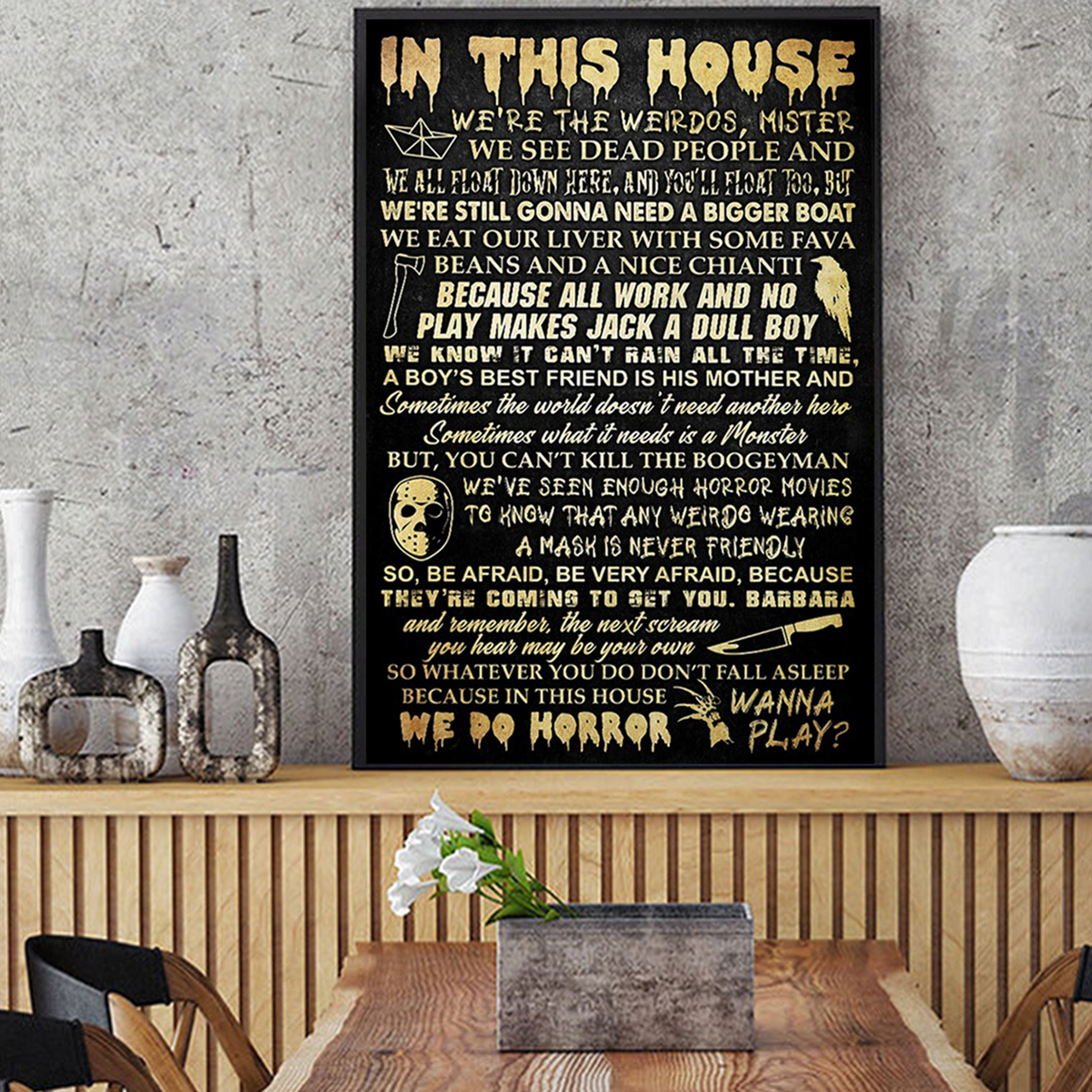 In this house horror movie poster A2