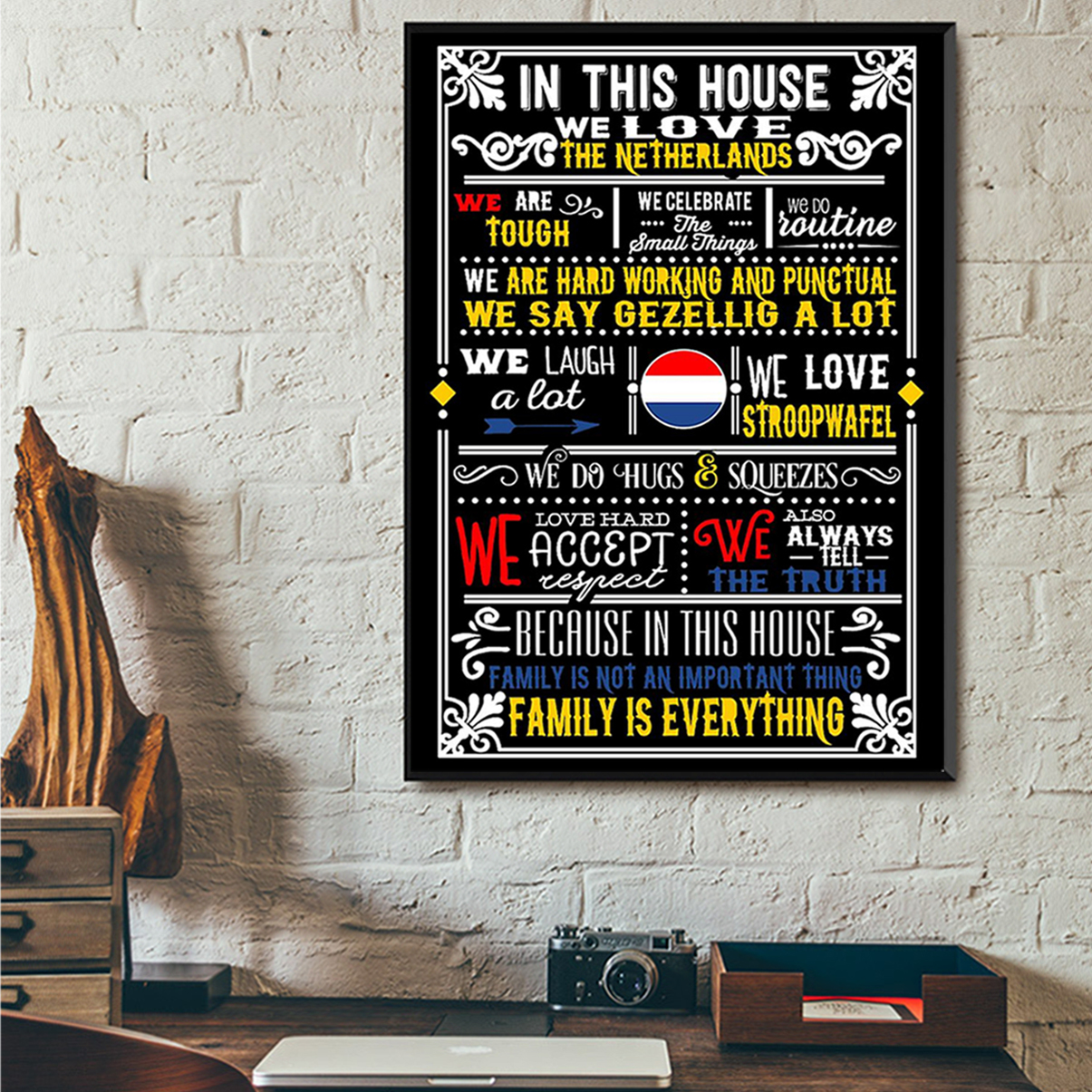 In this house we love netherlands poster A2