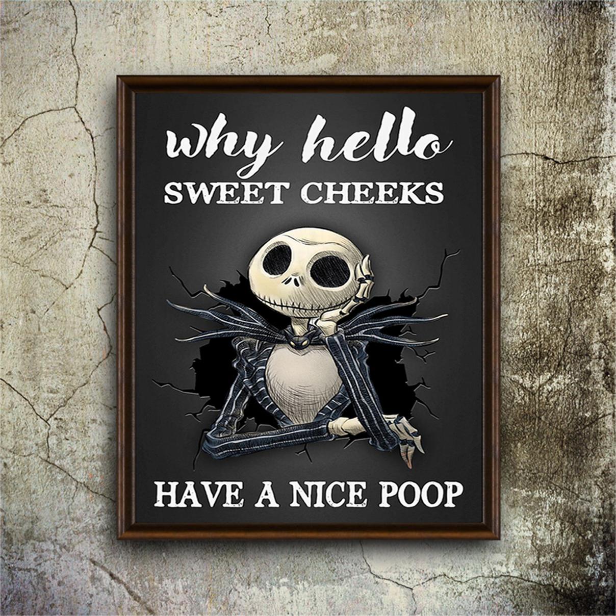 Jack Skellington sweet cheeks have a nice poop poster A2