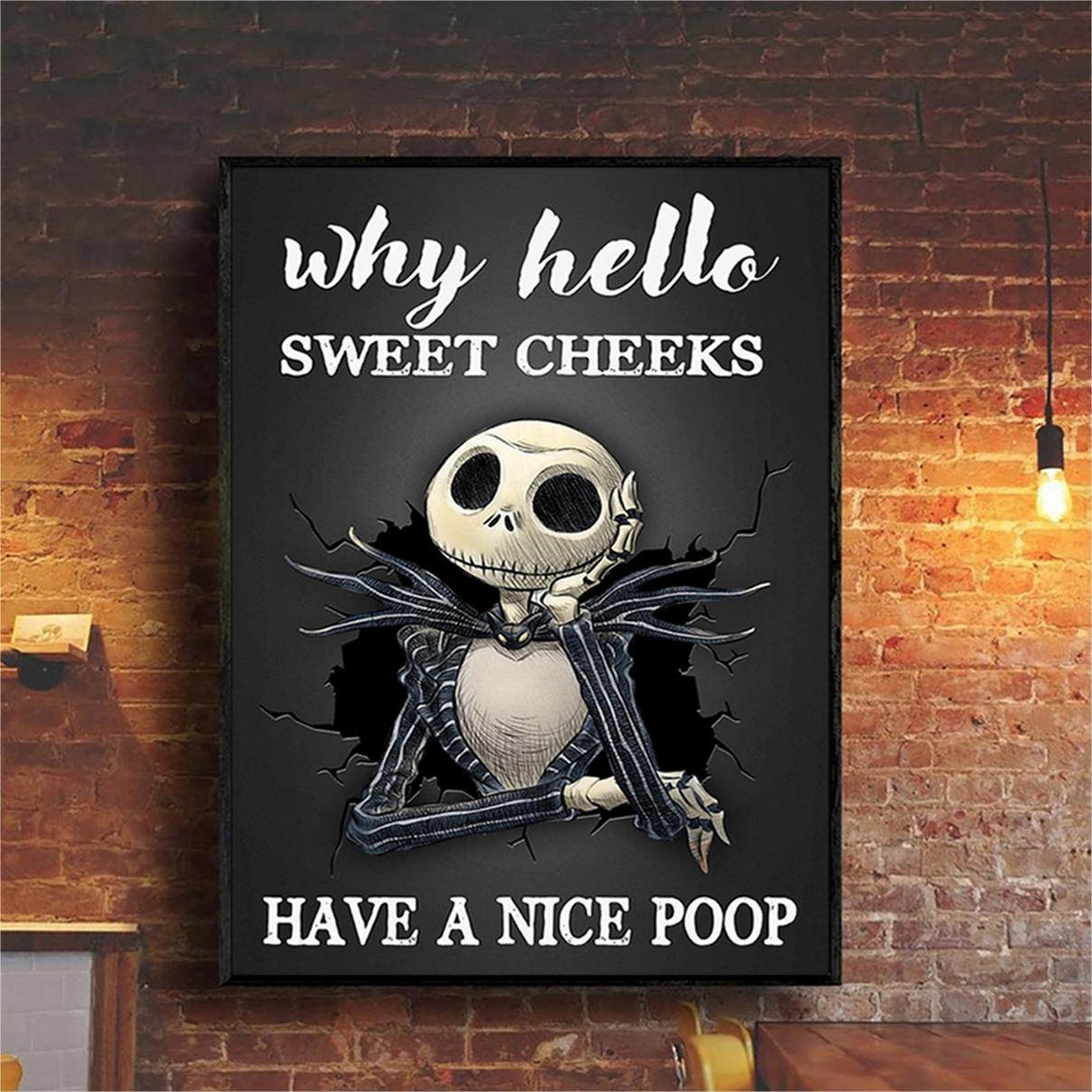 Jack Skellington sweet cheeks have a nice poop poster A3