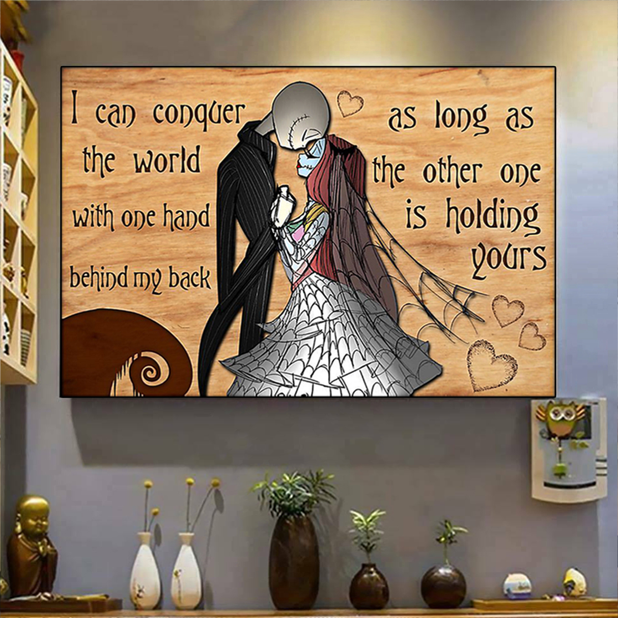 Jack skellington and sally I can conquer the world poster A1