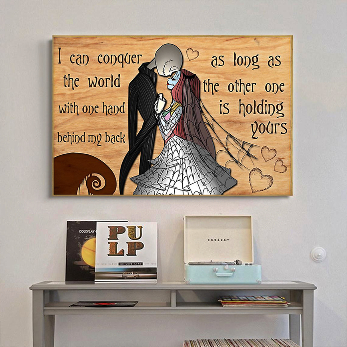 Jack skellington and sally I can conquer the world poster A2