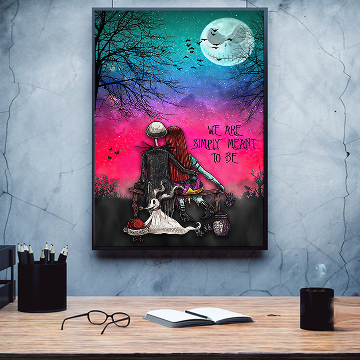 Jack skellington and sally we are simply meant to be poster A2