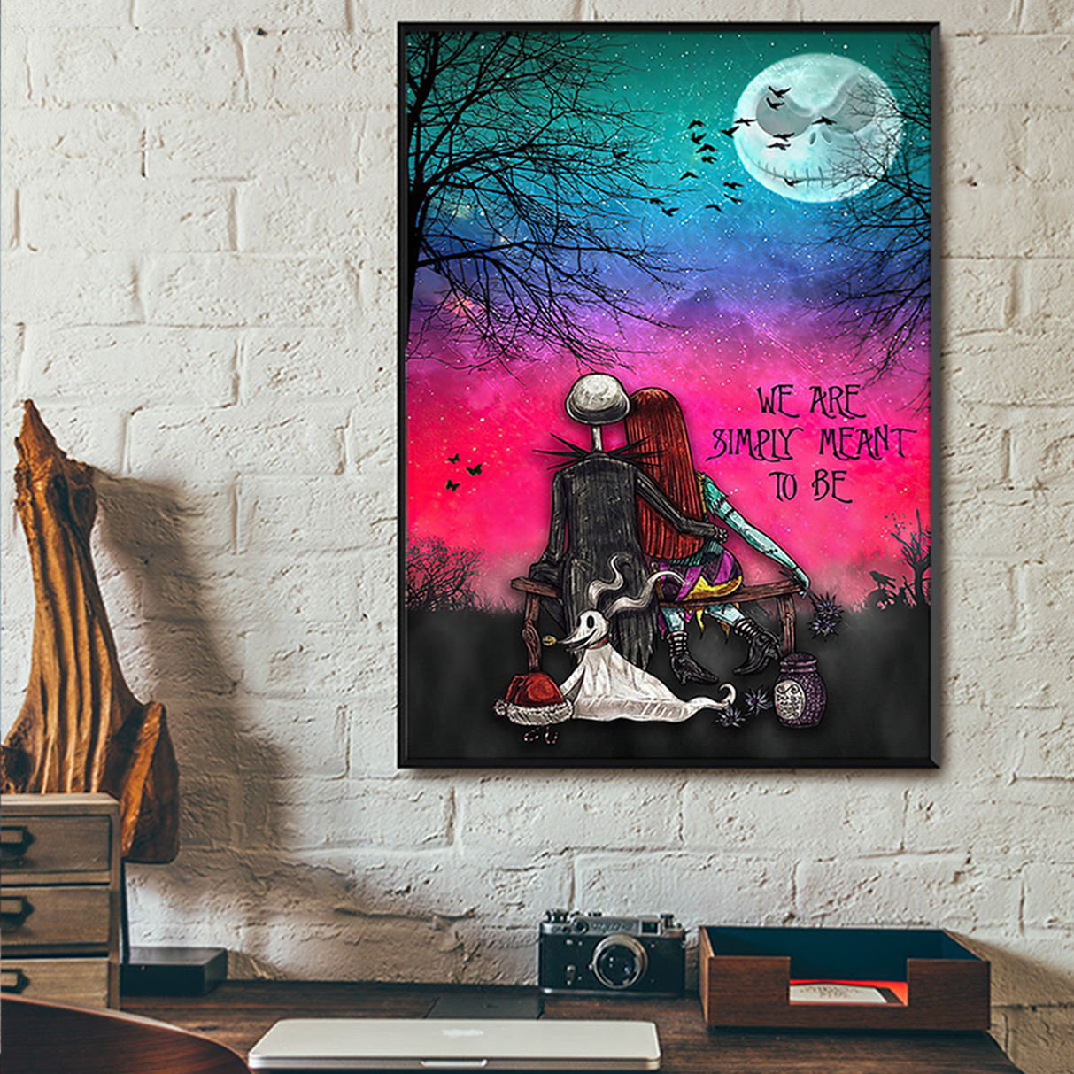 Jack skellington and sally we are simply meant to be poster A3