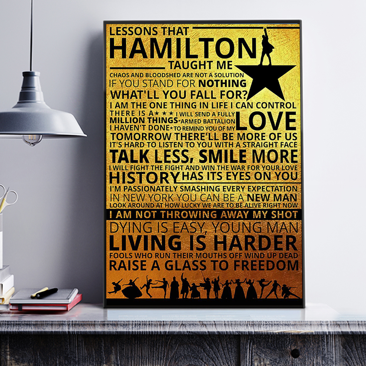 Lessons hamilton taught me poster A2