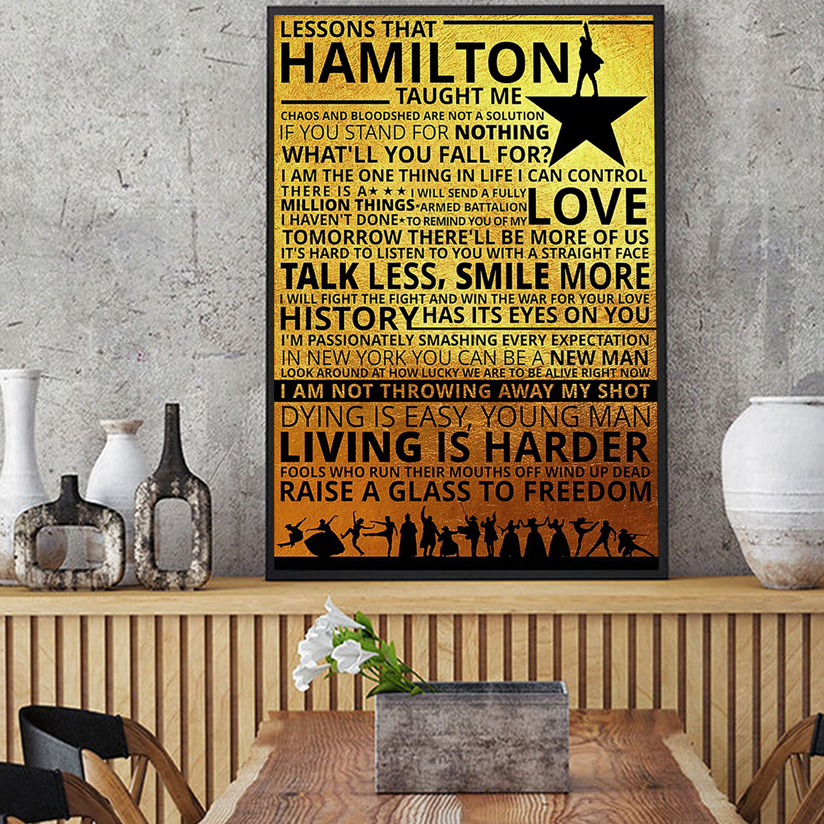 Lessons hamilton taught me poster A3