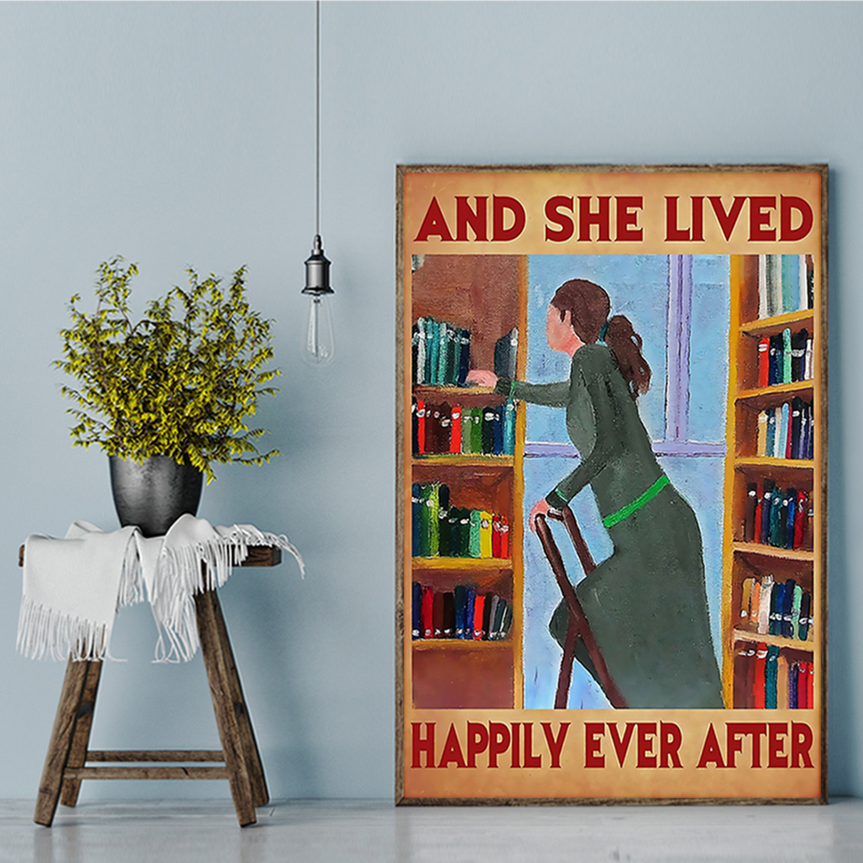 Librarian and she lived happily ever after poster A2