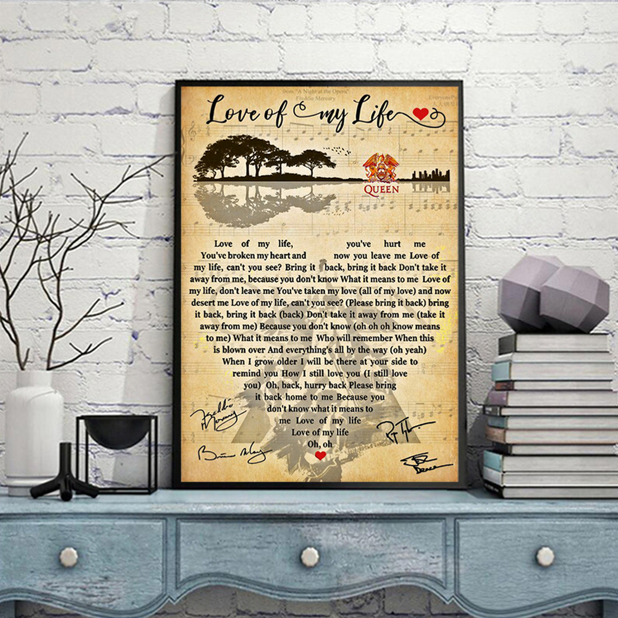 Love of my life queen poster A2
