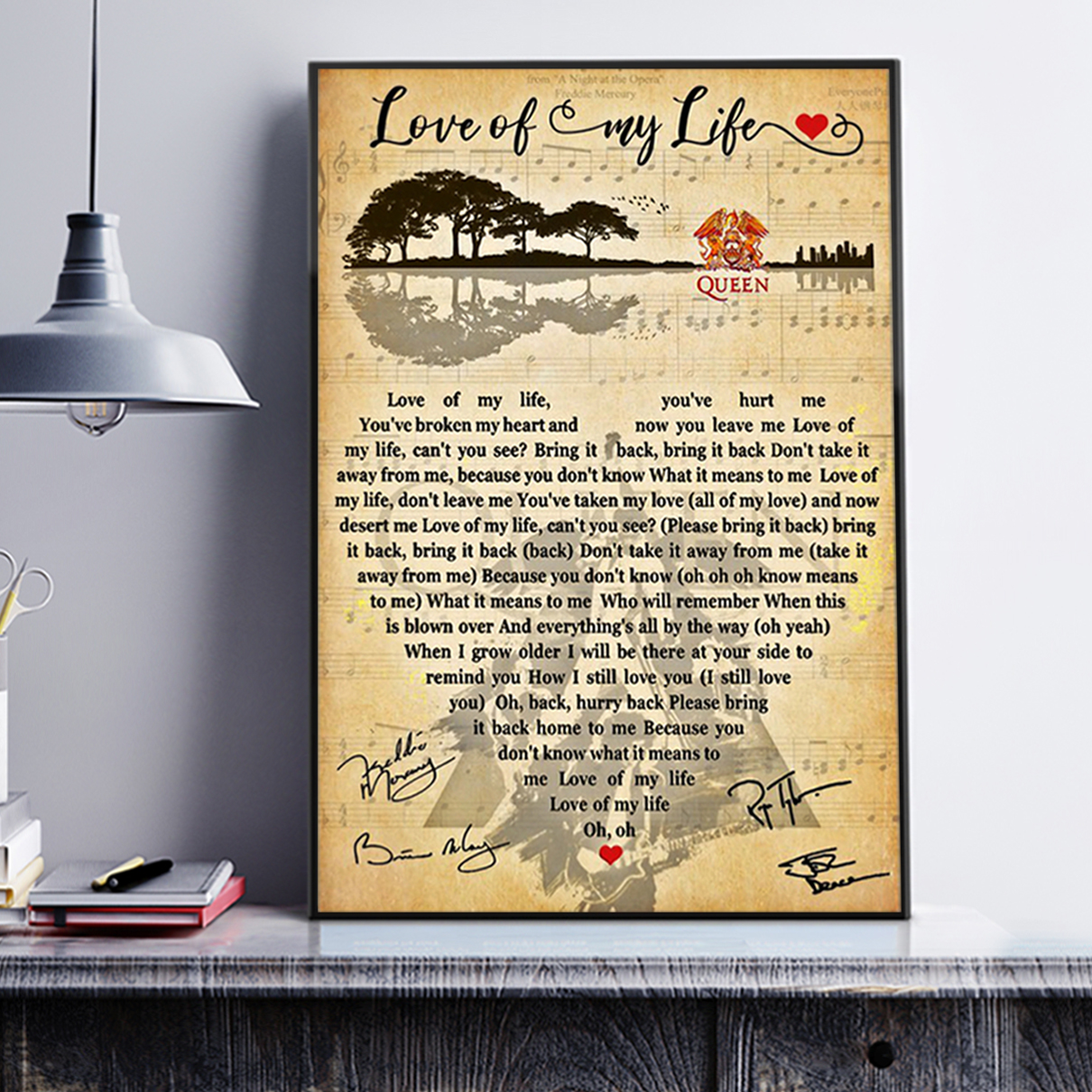 Love of my life queen poster A3