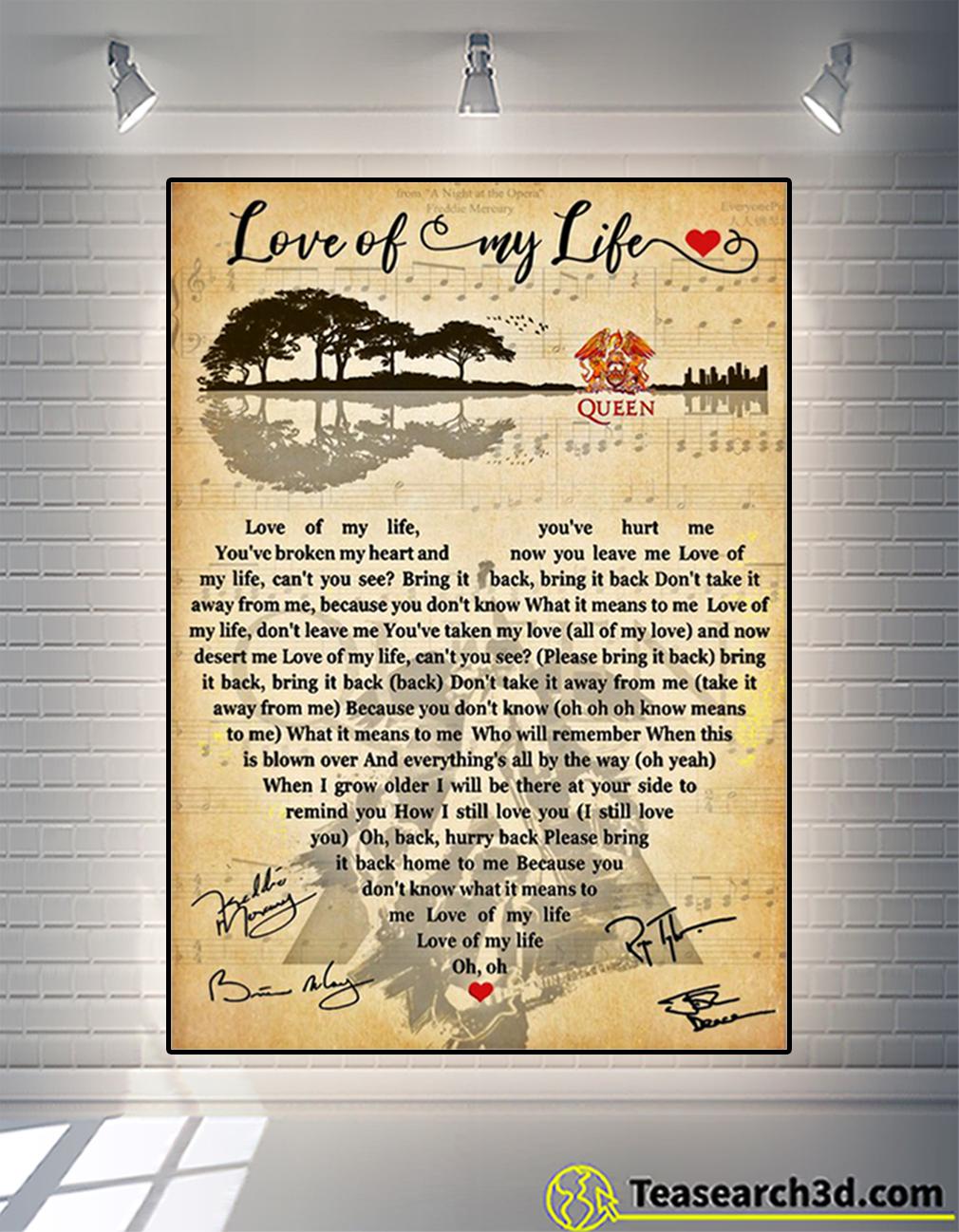 Love of my life queen poster