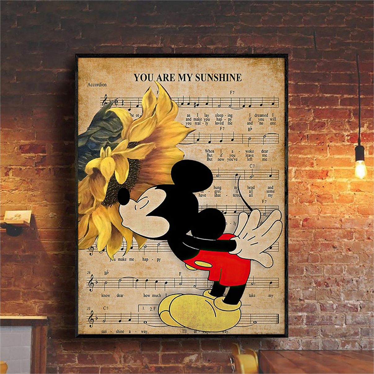 Mickey you are my sunshine poster A1