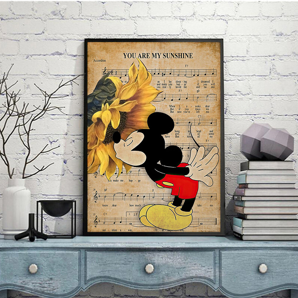 Mickey you are my sunshine poster A3