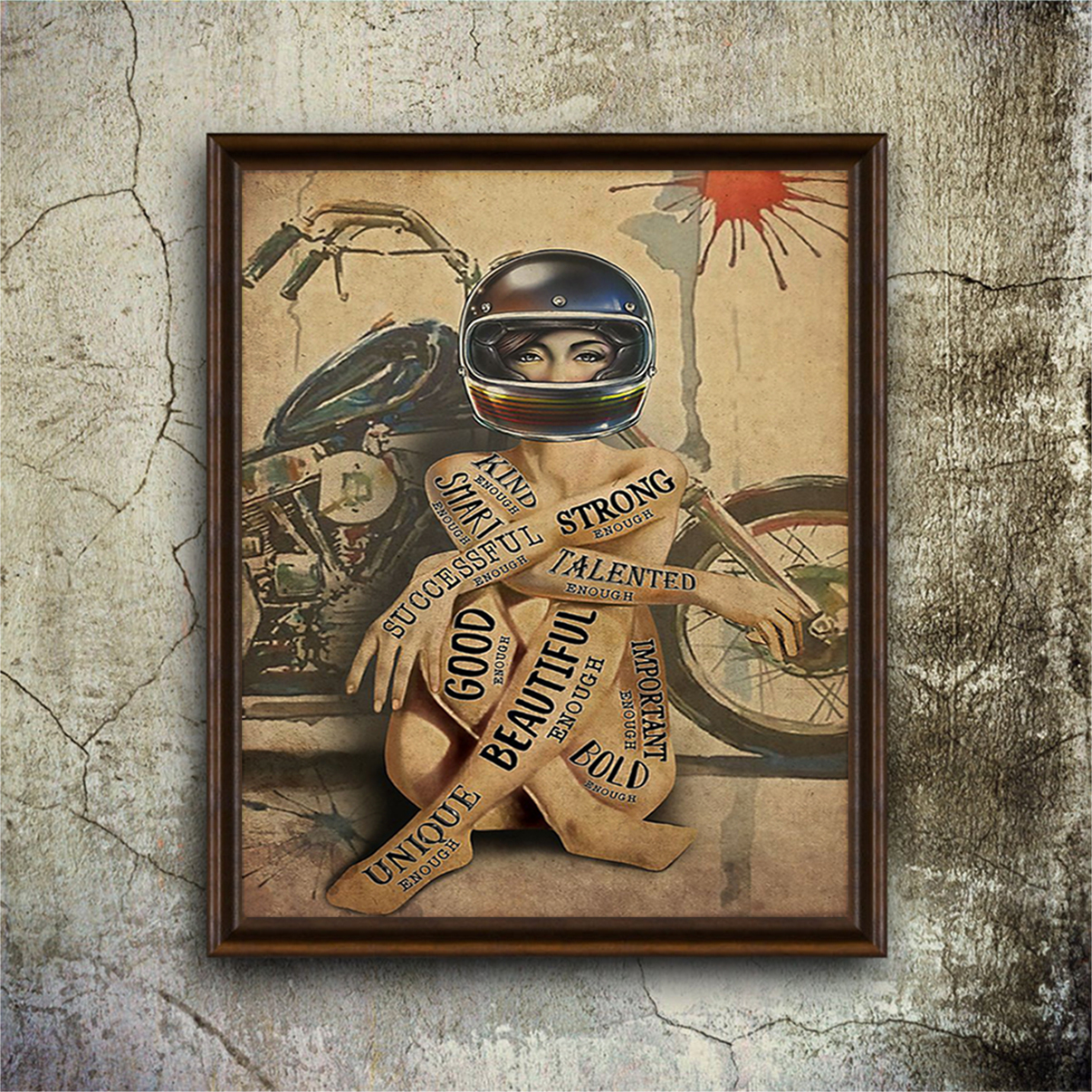 Motorcycle girl I am poster A2
