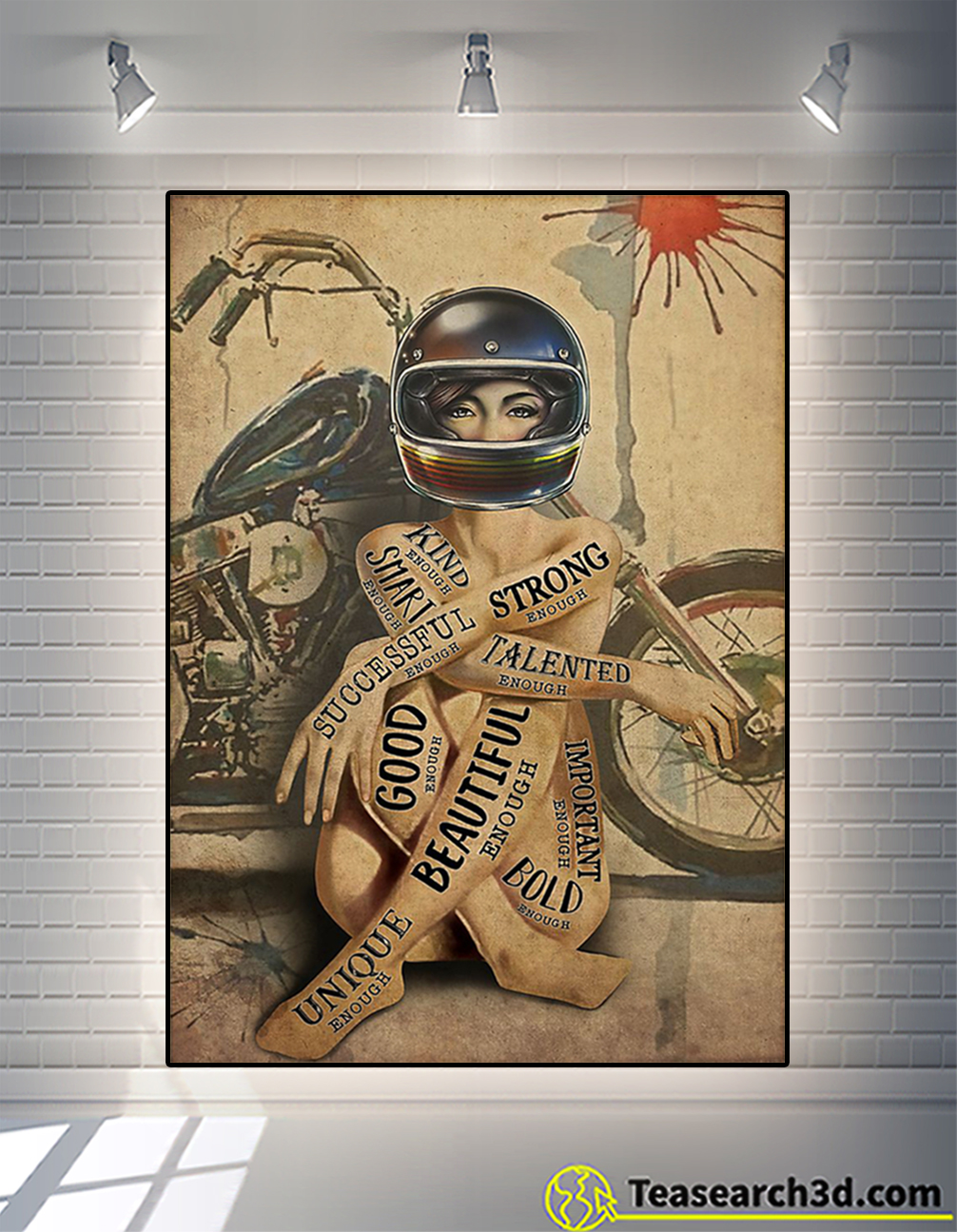 Motorcycle girl I am poster