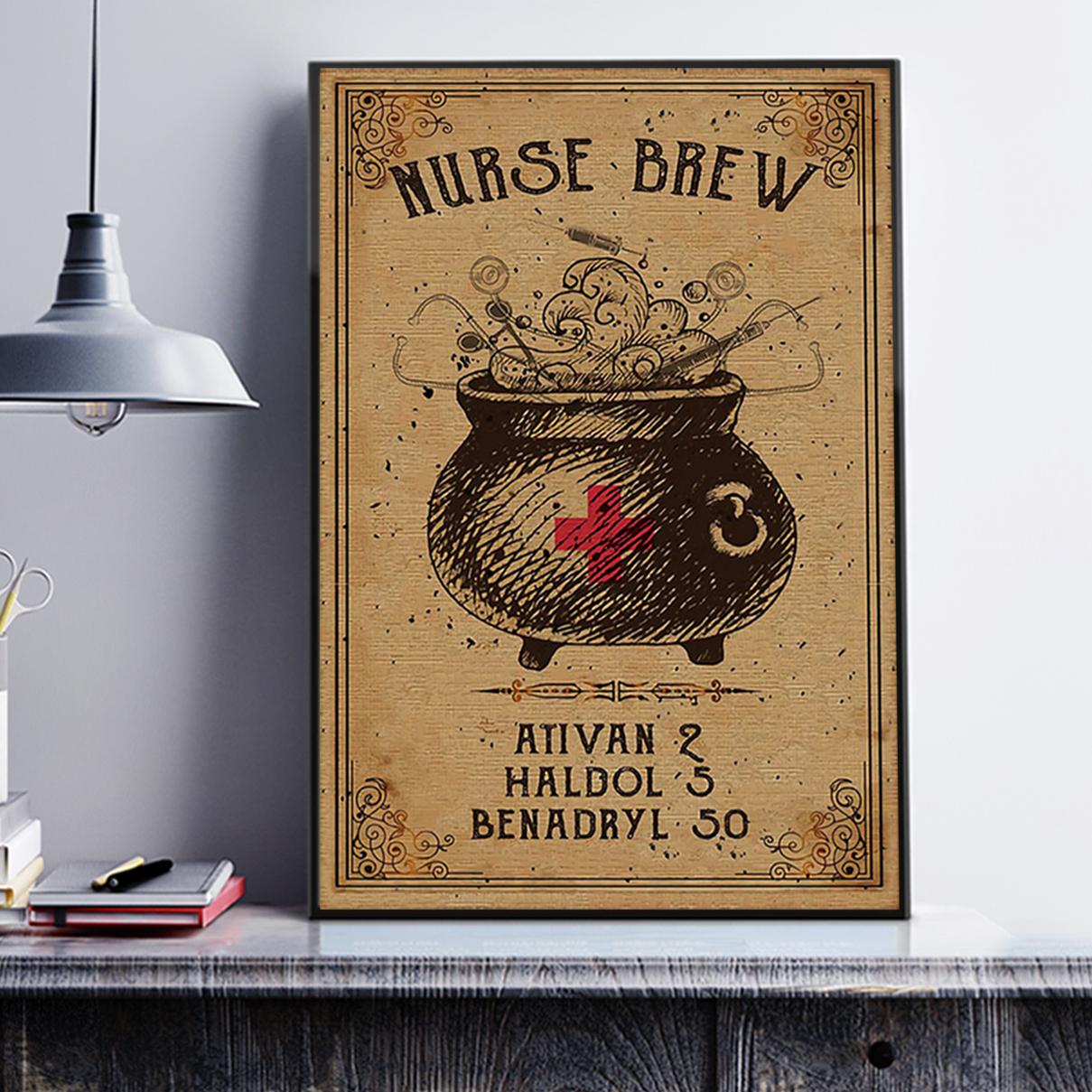 Nurse brew poster A2