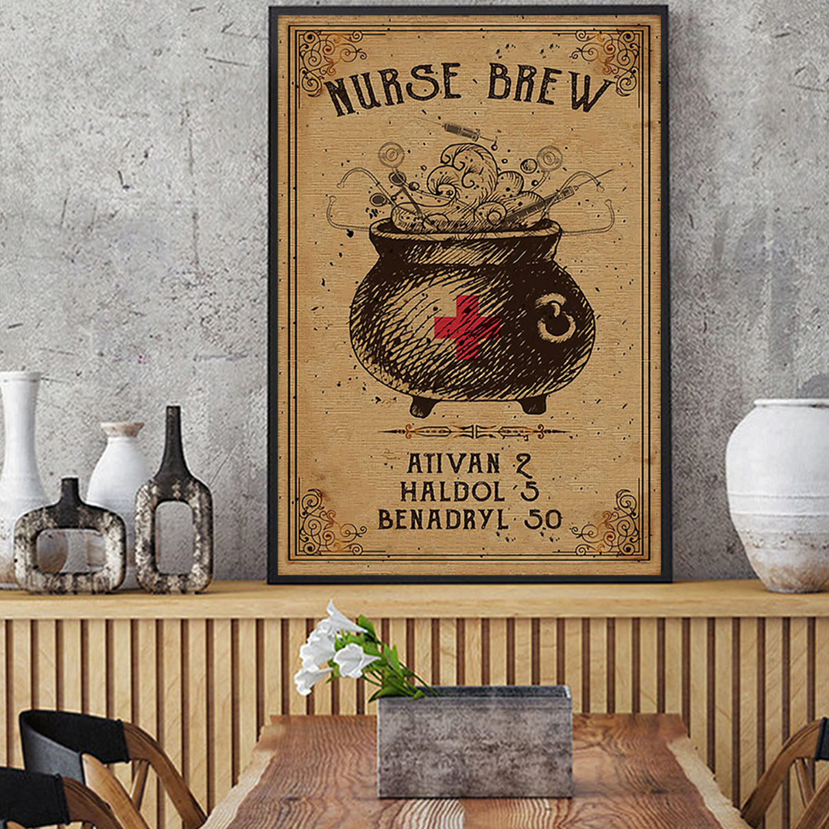 Nurse brew poster A3